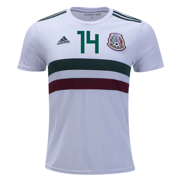 super popular 8022b 714ed Javier Hernandez #14 Mexico Football Shirt 2018 National Team Away Stadium  Soccer Jersey White from HoHo Jersey Collection