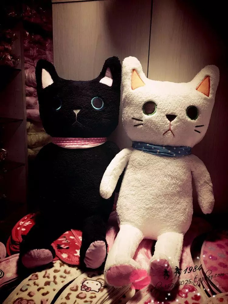 Black White Cat Stuffed Toy Cushion Cat Gift Shop Online Store
