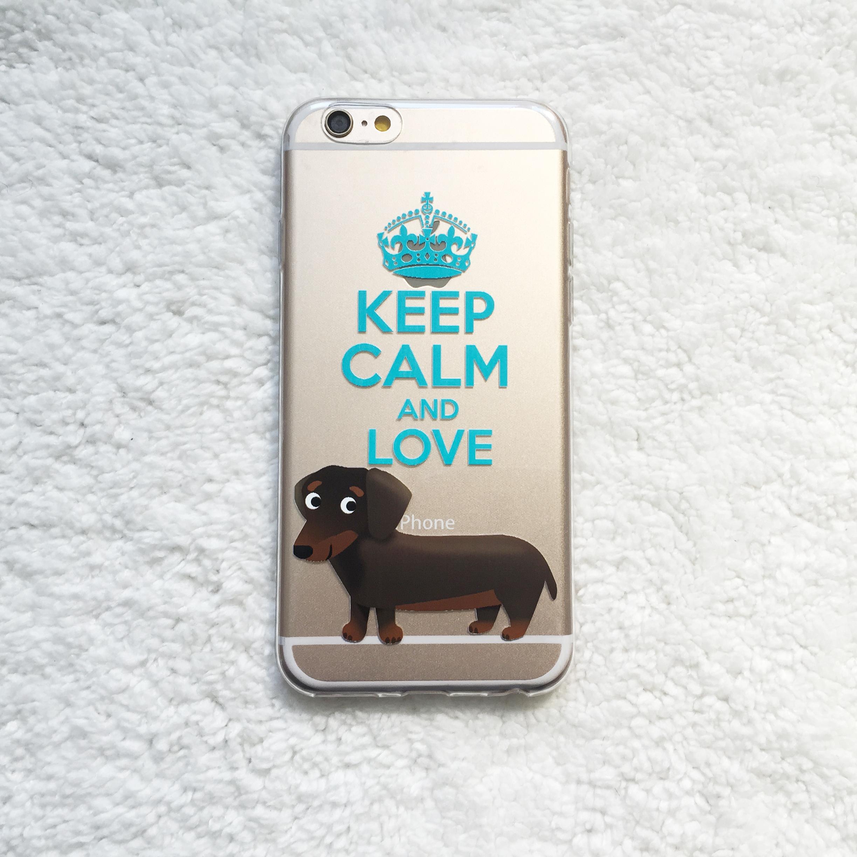 best service ee053 ca6ae Keep Calm love Dachshund Dackel pattern Clear TPU Phone Case for iPhone X 8  7 6S SE Plus Galaxy S9 S8 Plus S7 edge Note 8 Note 5 A8 2018 A7 2017 A5 ...