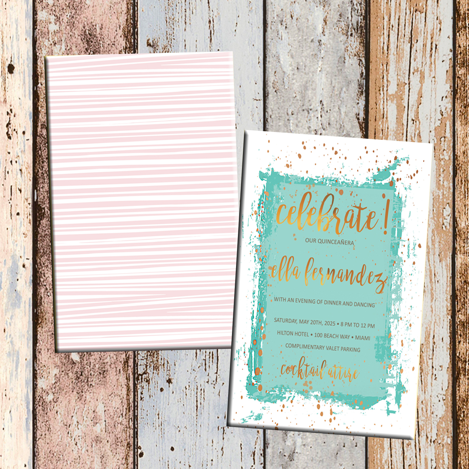 Minted Quinceanera Or Sweet 16 Personalized Birthday Invitation 2 Sided Card Party