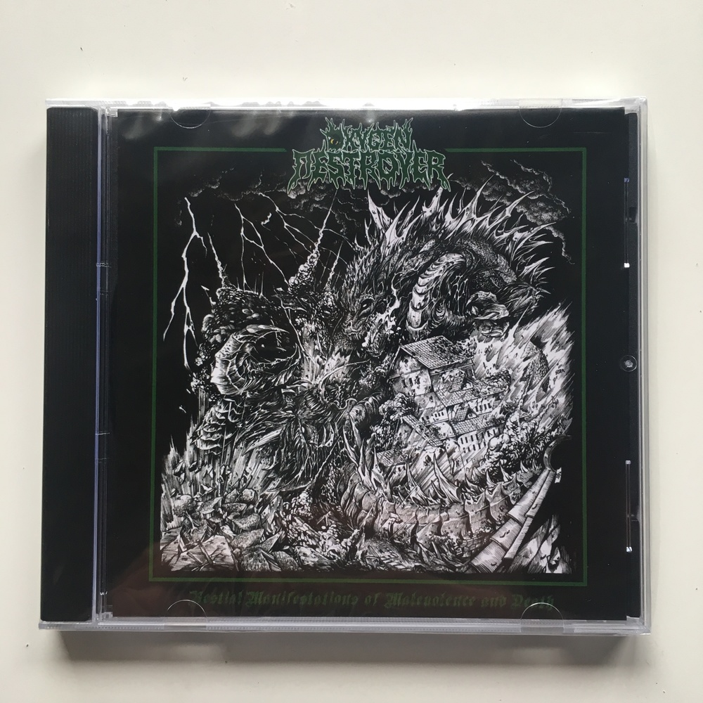 "Oxygen Destroyer - ""Bestial Manifestations Of Malevolence and Death"" from  Headsplit Records"