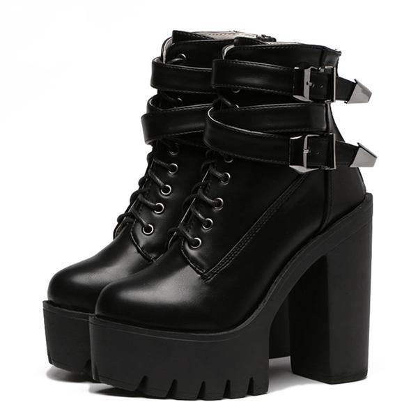 02397f08a39 FREE DHL SHIPPING 90s Gothic Grunge Platform Boots