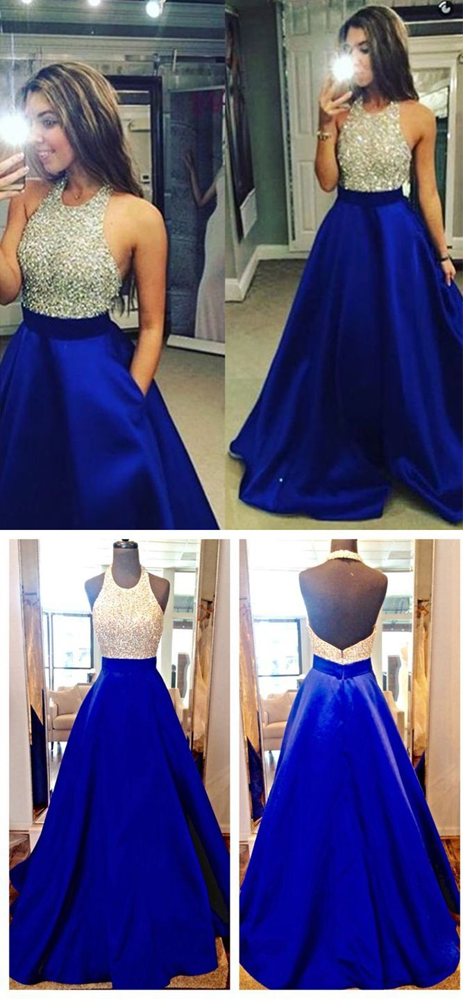 Ball Gown Prom Dresses,New Fashions Glitter Royal Blue Prom Dress ...