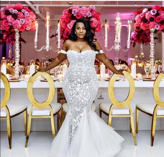 f08a2e8b81e ... Thumbnail 1  Plus Size Summer Wedding Dresses Mermaid Lace Off Shoulder  Beach Wedding Dresses - Thumbnail 2 ...