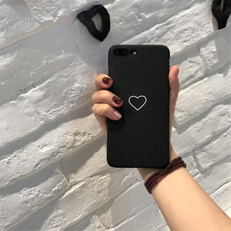 cheaper f8273 0baad Cute Phone Case For iPhone X 8 7 6 6s Plus 5 5s SE Fashion Couples Love  Heart Ultra Hard PC Cover Cases For iPhone 8 Coque from Super Cute