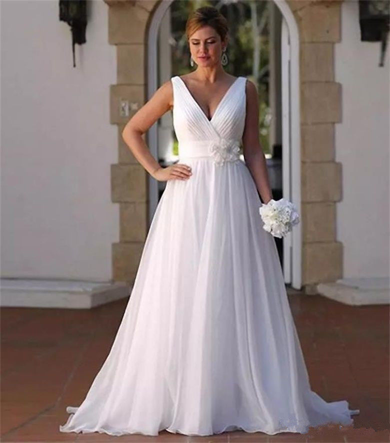 Bridal Dresses 2019: 2019 Simple Wedding Dress Chiffon Bridal Ball Gown Wedding