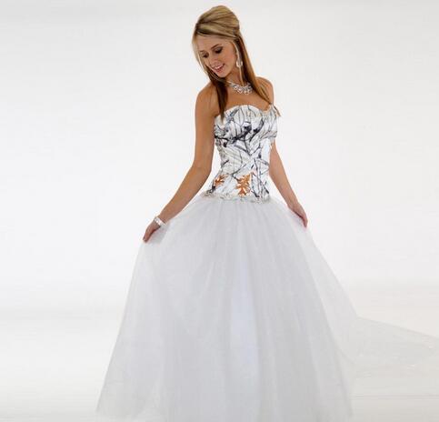 Simple Camo Wedding Dresses Cheap Sweetheart A Line Tulle Wedding Guest Dress Bridal Gowns Floor Length Zipper Bridesmaid Dress Long From Misszhu