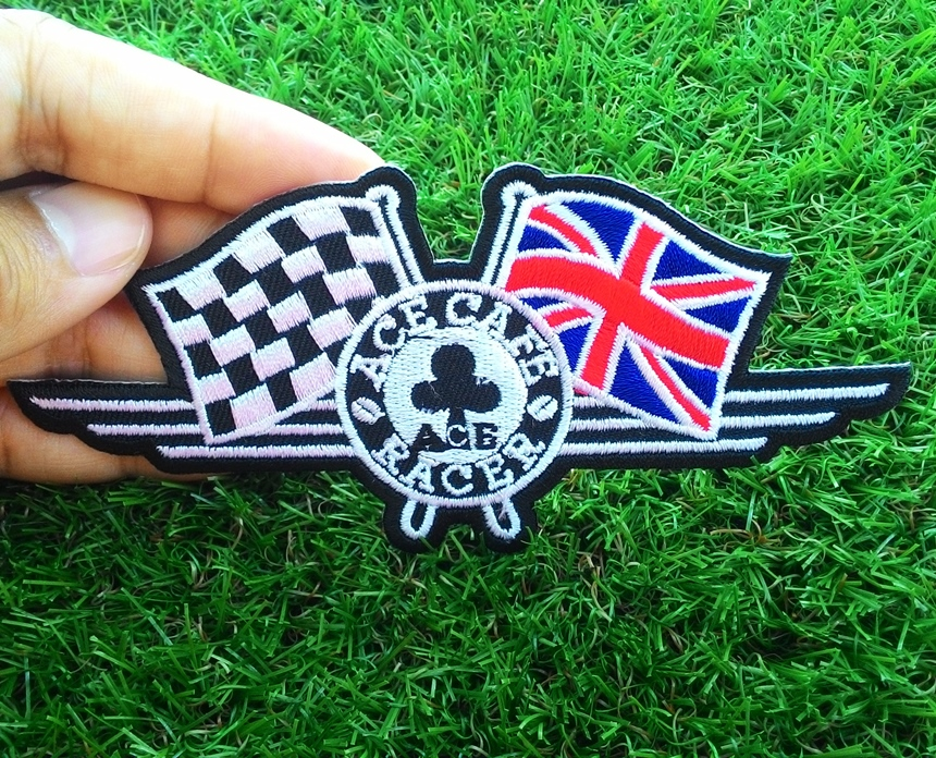 Embroidery Iron On patch Ace Cafe Racer London
