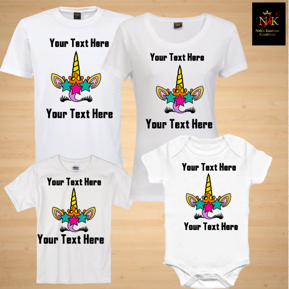 25c6e89e1 Unicorn #3 Family/Birthday Shirts · Nek's Kustom Kreationz · Online ...
