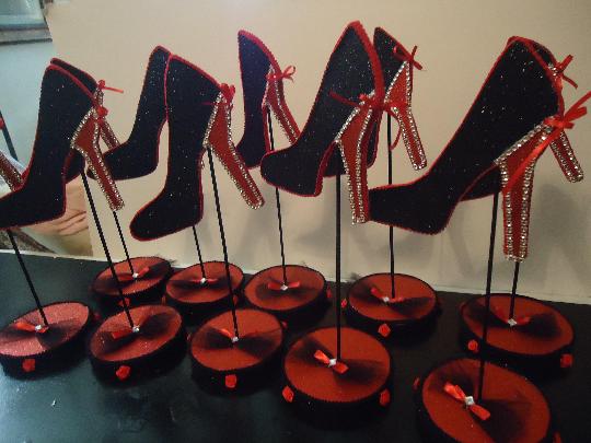 10f835ae23985 Ten Stiletto Shoes Centerpieces, High Heel Shoes Centerpieces, Table  Decoration, Shoe Party