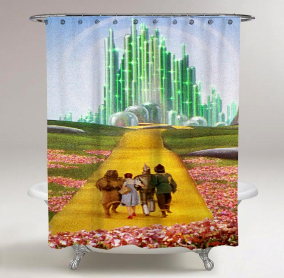 The Wizard Of Oz Movie Print On Custom Shower Curtain Limited Edition