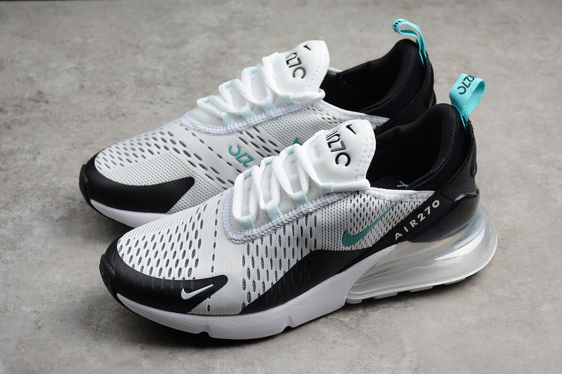 brand new c7926 0530f Nike Air Max 270 Running Shoes White black blue AH8050-001