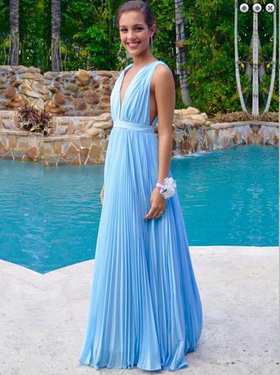 79ad7190fa7 Hot Sale Sky Blue Prom Dresses