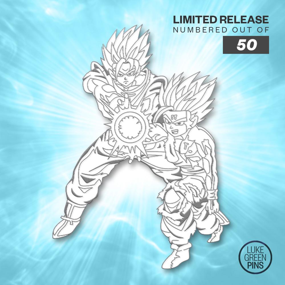dfab4833 Dragon Ball Z - Father & Son Kamehameha Pin (Manga Glow) on Storenvy