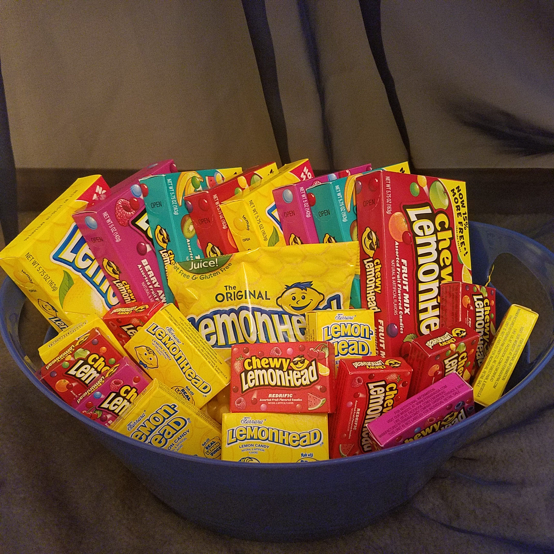 Lemonhead Candy Gift Basket sold by Connie's Creations