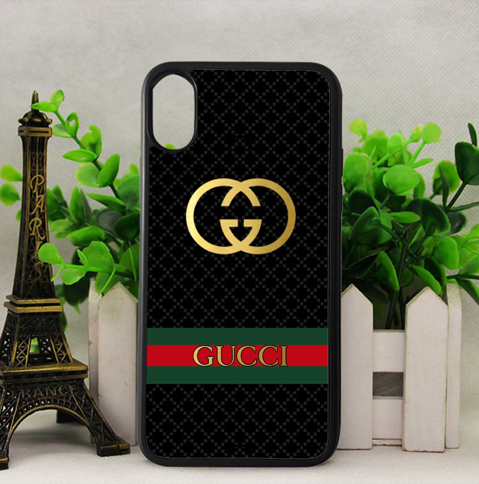 the best attitude 3d64c 93b2a Gucci Stripe Pattern Case for iPhone 5 5s SE 6 6s 7 8 Plus X Samsung S7 S8  Note 8 Cover + from FushionShop