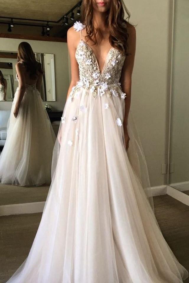 Sale Morden White A-line/Princess Wedding Dresses, Ivory Wedding ...