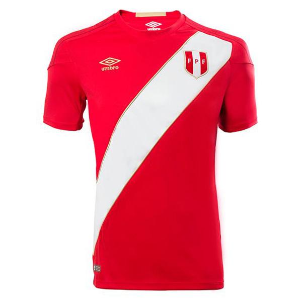 Peru Jersey World Cup 2018 Away Soccer Men Shirt Red 65cd8e554