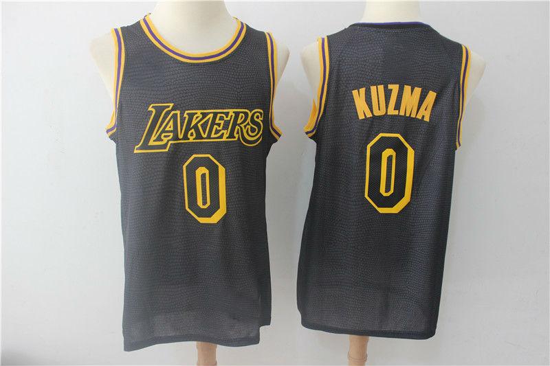 Los Angeles Lakers 0  Kyle Kuzma Authentic Jersey Black City Edition ... 56882b034