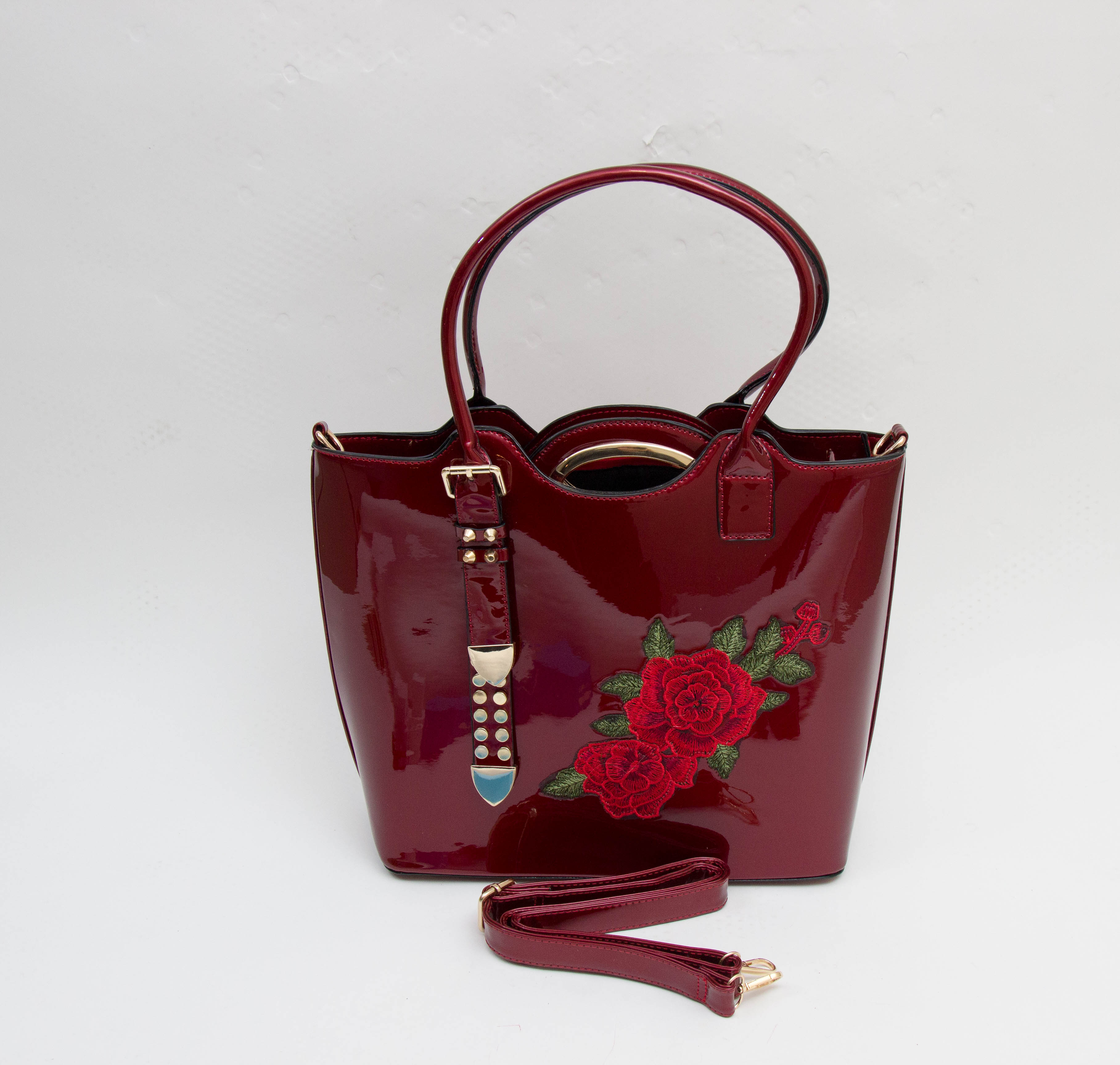 Doubles satchel Red tote purse (88260063) photo