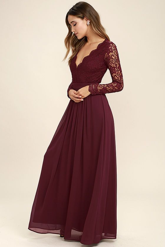 1f26c6e7052ee Prom Dress Burgundy Long Prom Dress, 2017 Prom Dress,Backless Long Sleeves  Prom Gowns