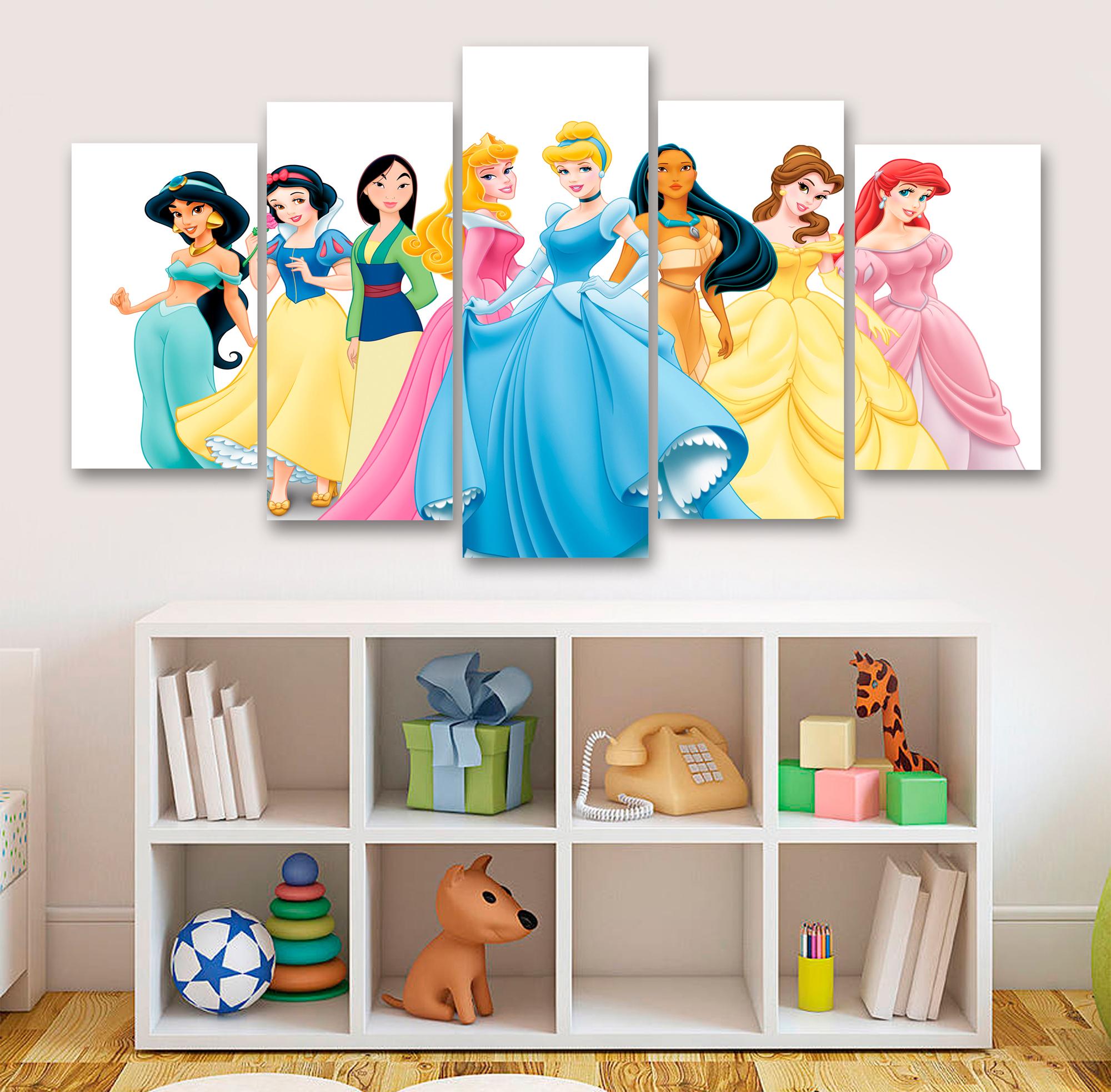 Disney Princesses 5 Piece Canvas, Multi Panel Canvas, Home Decor Bedroom  Decor, Office Decor 032 sold by PrintBoxGB