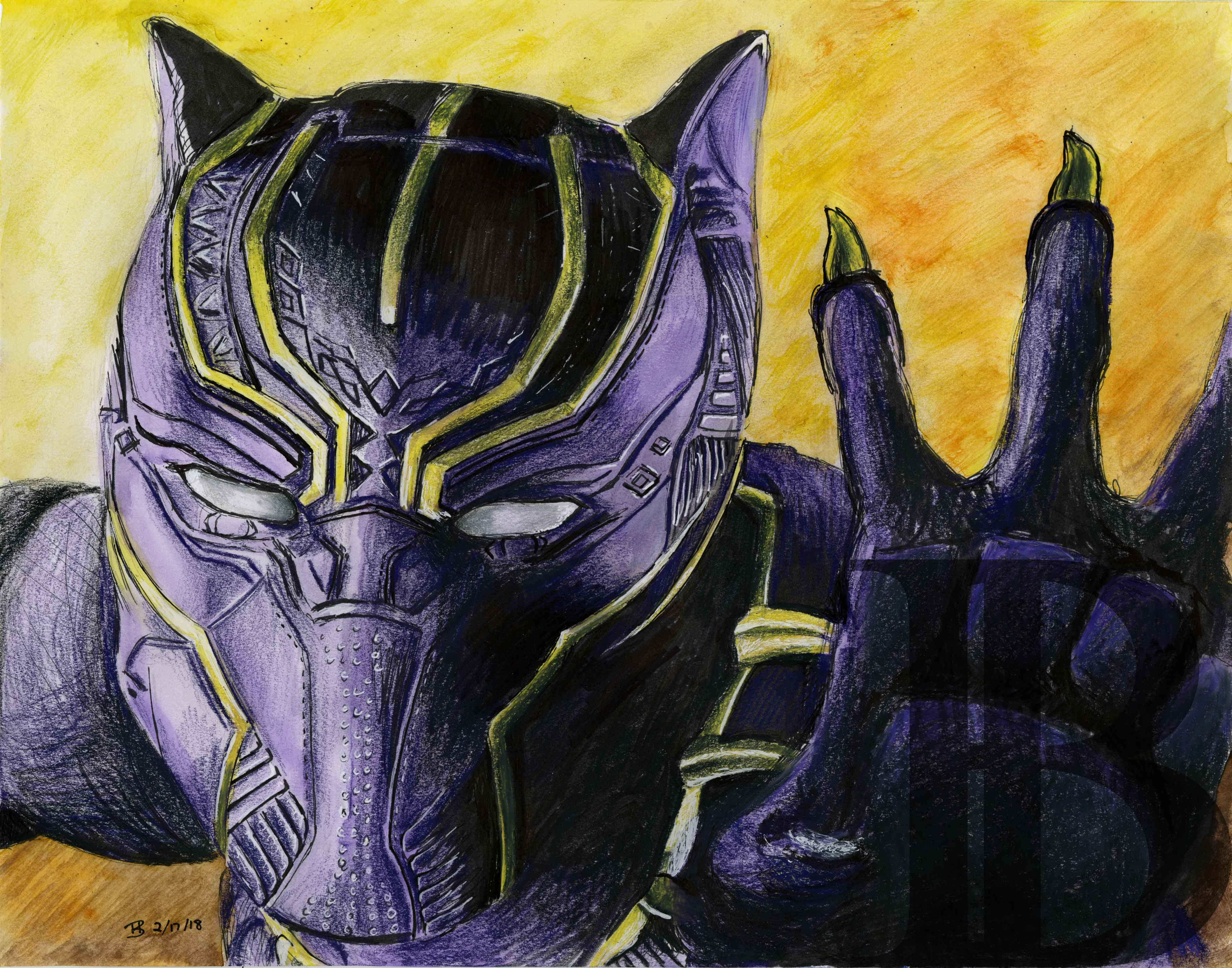 32965db656207 Black Panther - Original from Brittany Brubaker's Drawings