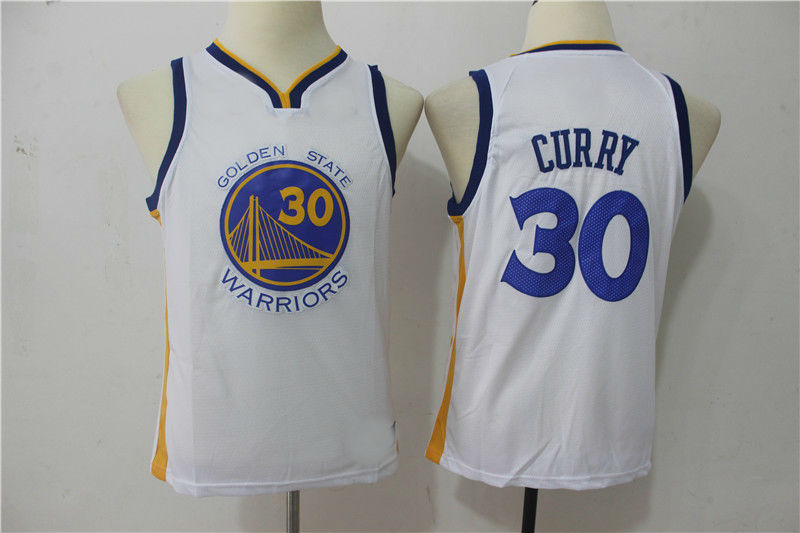 dbf693dfd7b 2018 Youth Golden State Warriors #30 Stephen Curry Basketball Jersey ...