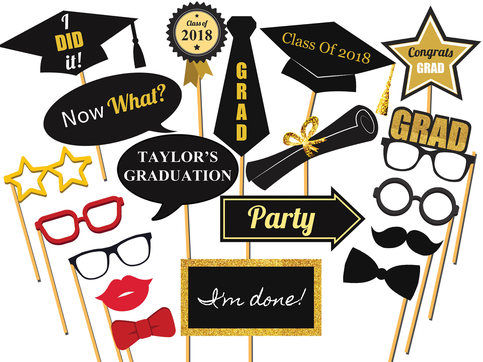Personalized Graduation Photo Booth Prop Class Of 2018
