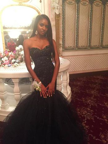 Black_Mermaid_Tulle_Prom_Dresses_Sweetheart_Beading_Crystals_African_Girl_Black_Girl_Evening_Formal_Gowns