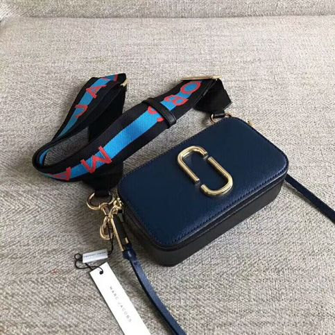 Marc Jacobs Snapshot Small Camera Bag Crossbody Bag Logo Strap Blue Sea Multi Auth On Storenvy