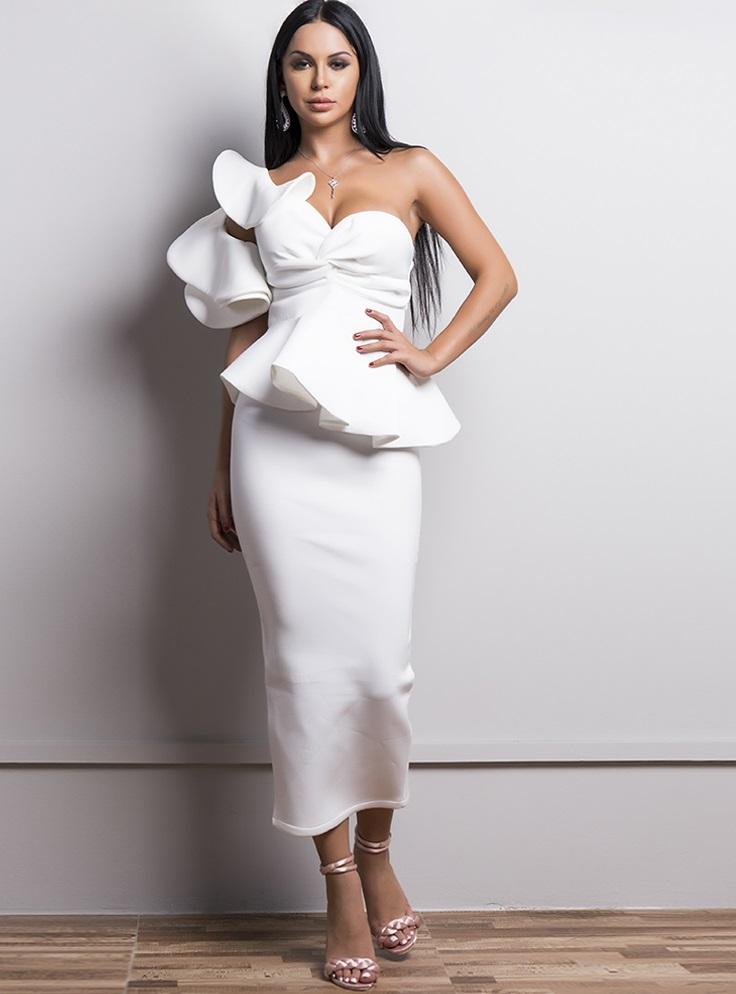Gray Ankle Length Dress