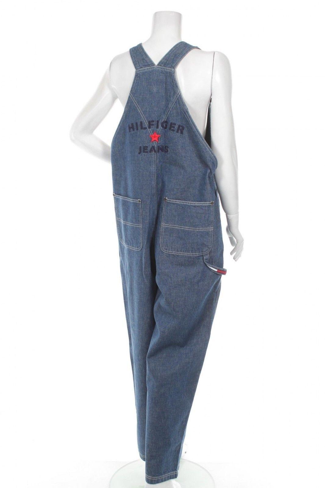 7e78685fdbf Tommy Hilfiger Jeans Women Jumpsuit 1990s Vintage Denim Bib Overalls ...