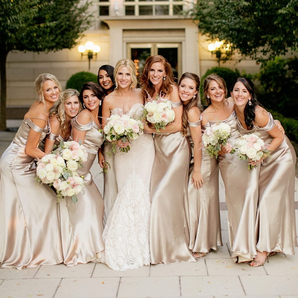 Long Bridesmaid Dress, Chiffon Bridesmaid Dress, One