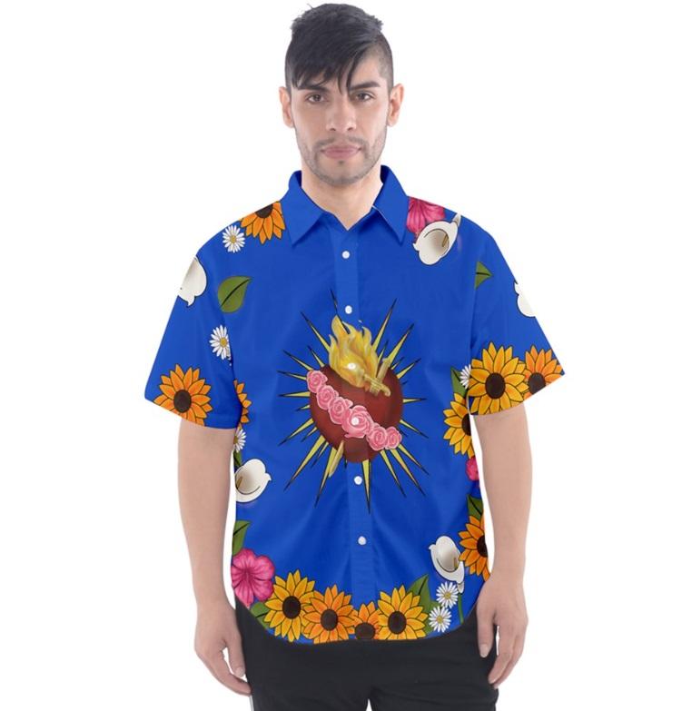 13b0ae8fb Romeo Sacred Heart Mens Button Up T Shirt XS-3XL on Storenvy