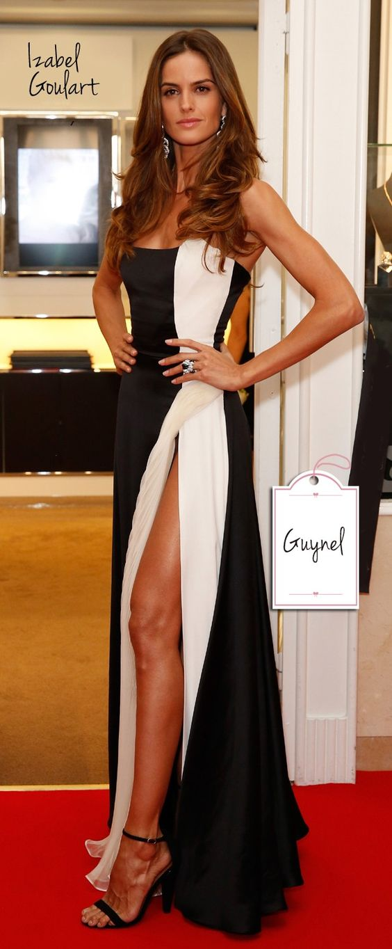 Inspired_by_Isabel_Goulart_Celebrity_Dresses_Black_and_White_Chiffon_Strapless_Prom_Dresses_Evening_Formal_Gowns