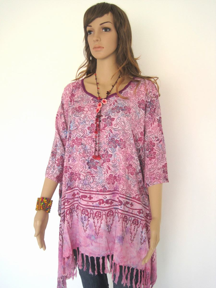 Plus Size, Lavender, Batik Dress, Tunic Dress, Caftan Dress, Kaftan ...