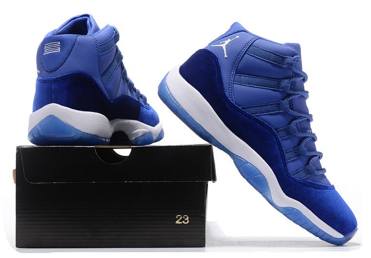 73fae06183d3 ... Nike Air Jordan 11 Velvet Heiress Blue White Basketball Shoes -  Thumbnail 4