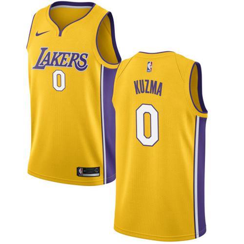 Nike Lakers  0 Kyle Kuzma Gold NBA Swingman Icon Edition Jersey on ... 5fd07b44e475