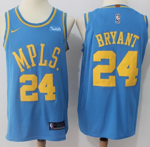 cb92b8f41 Nike Lakers  24 Kobe Bryant Royal Blue NBA Authentic Hardwood ...