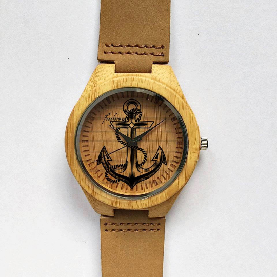 wooden watch anchor watch wood watches mens watch personalized