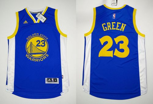 Revolution 30 Warriors  23 Draymond Green Blue Stitched NBA Jersey ... 7443c4aac