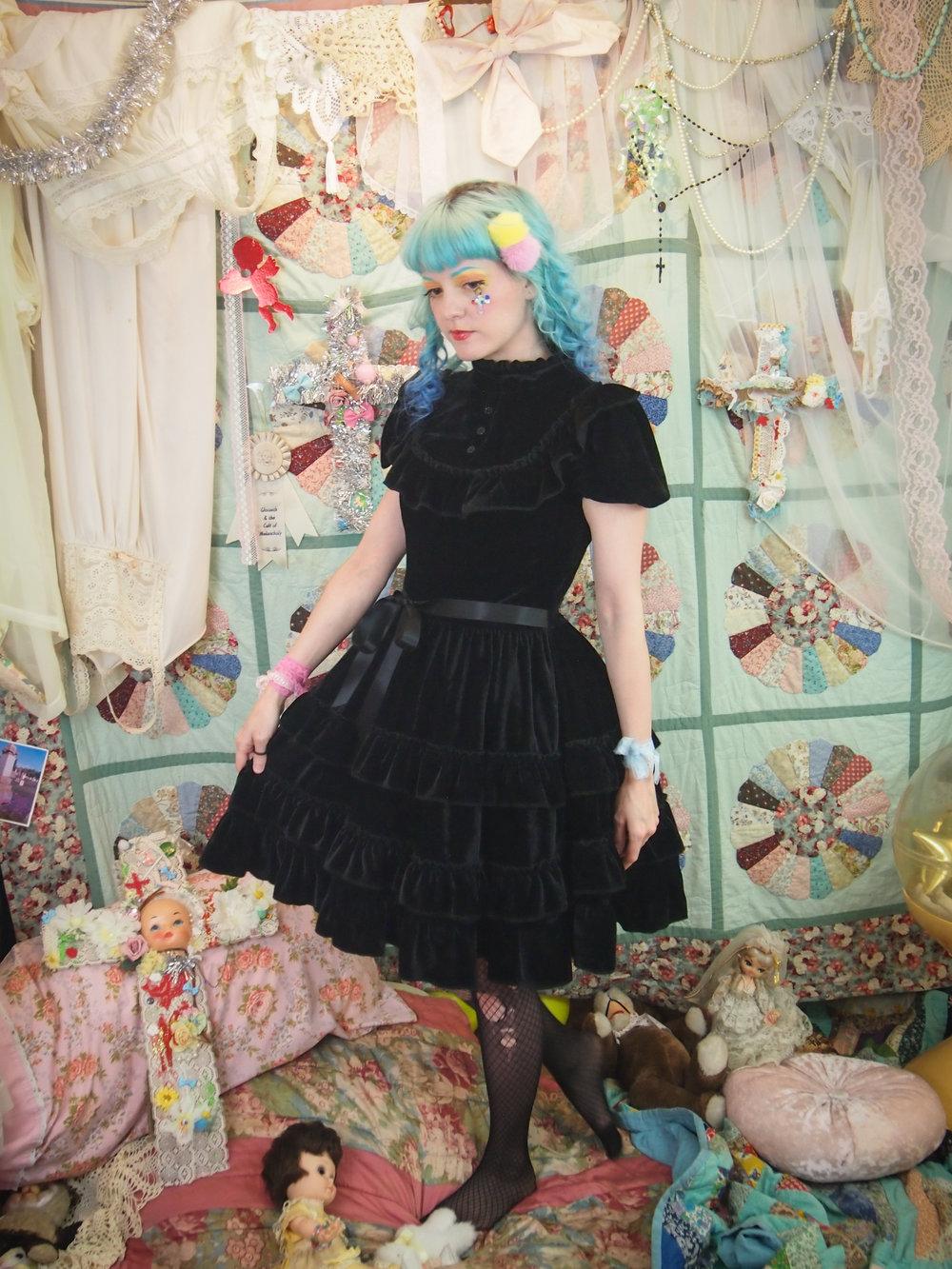 Gloomth October Black Velvet Gothic Lolita Teaparty Dress Your Size ...