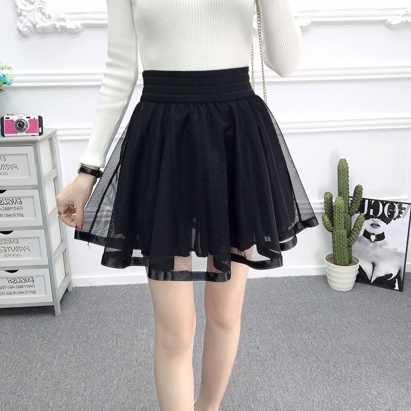 f922c8eba95 Kawaii Lolita Black Chiffon Skirt on Storenvy