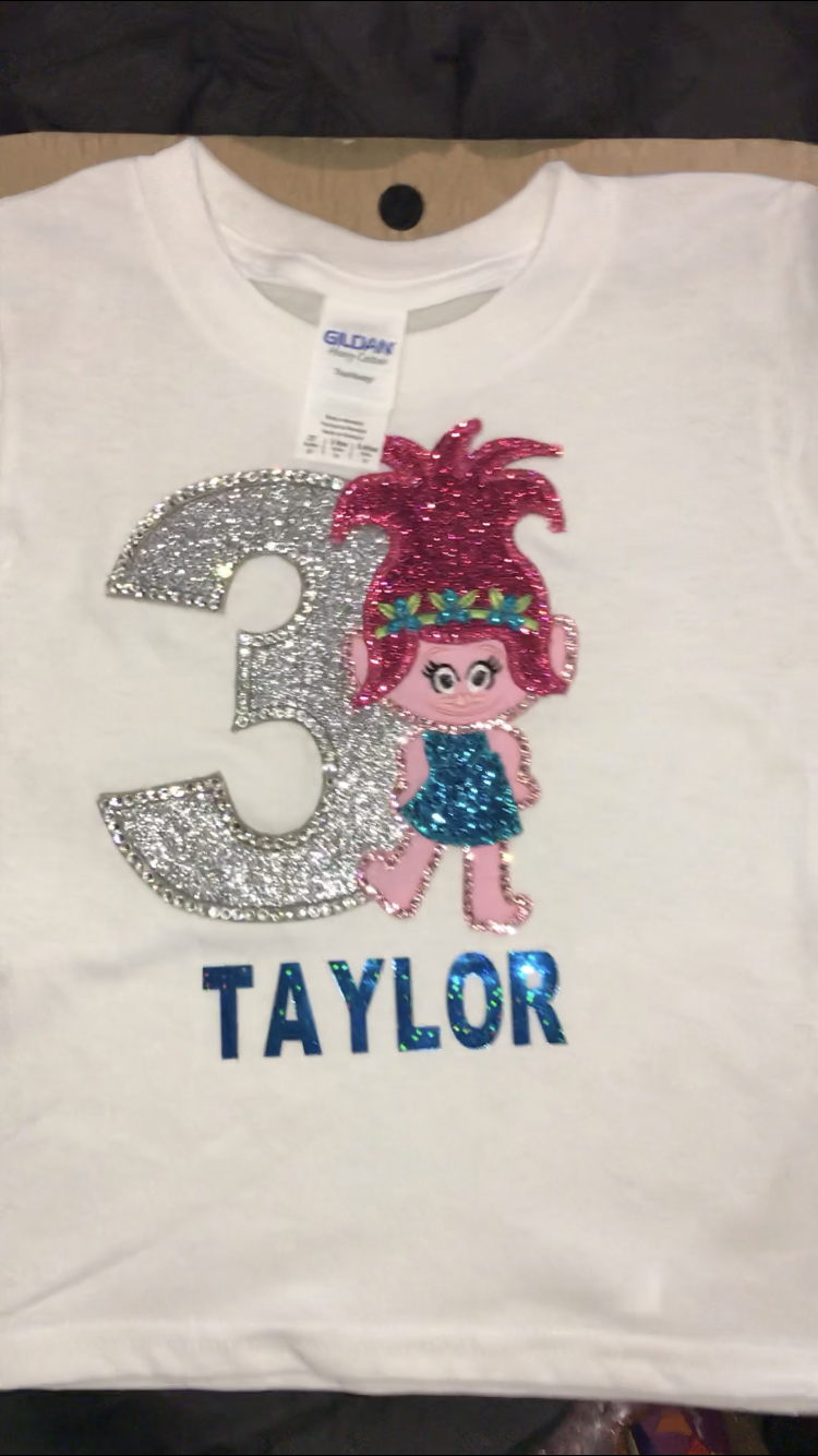Girls Birthday Shirts THE BLING QUEEN Online Store Powered By