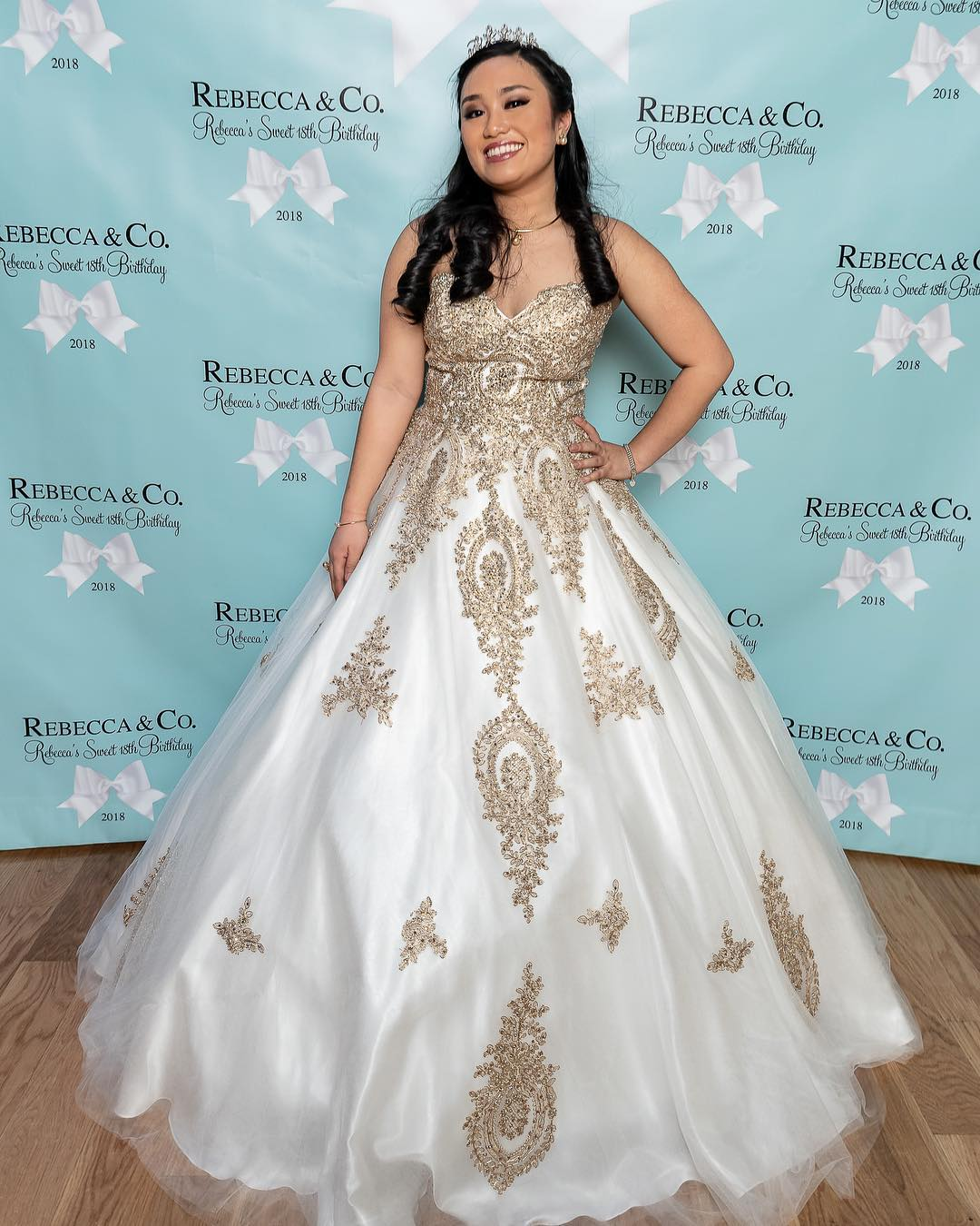 503effc421 Lace Quinceanera Dresses White Ball Gown Sweet 15 Dresses from MychicDress