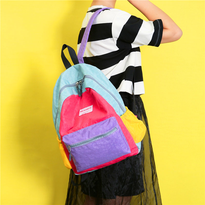 e80920100f22 80'S CANDY COLOR CANVAS BACKPACK