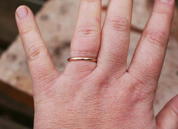8f9f3586635c0 14k gold band, wedding jewelry, 2mm wedding band, wedding ring, gold  wedding ring, Simple ring, Tiny band, Minimalist ring from Arpelc Jewelry