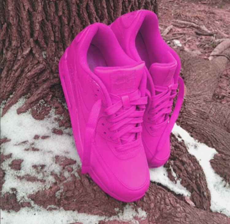 1a684381174c Fuschia Custom Nike Air Max 90 · SneakerSuperShop · Online Store ...