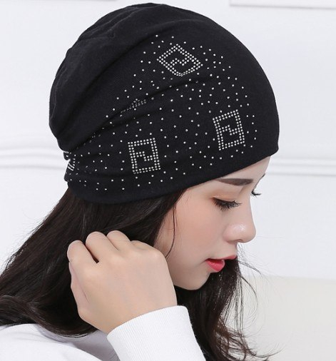 aad94f7ec566e 2018 Beanie Hats For Women Beanies Autumn And Winter Brand Knitted Hat  Turban Diamond Skullies Hip